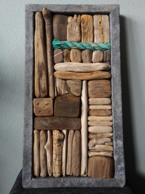 Drijfhout collage klein groen