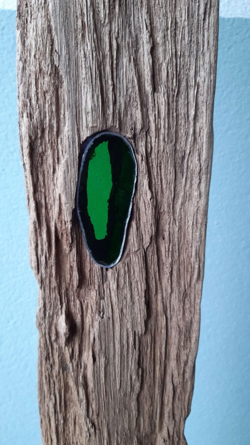 Glas in lood lat groen