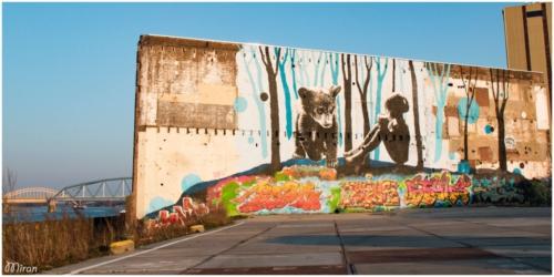 Graffity bij Waalhalla Nijmegen