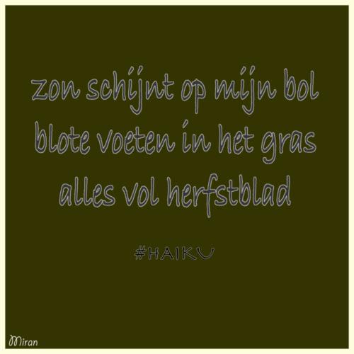 Haiku Herfstblad